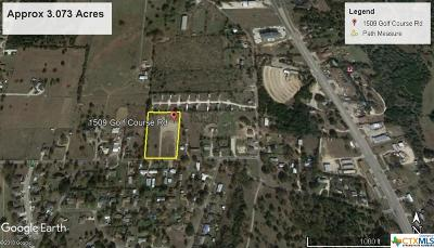 Coryell County Residential Lots & Land For Sale: 1509 Golf Course Road