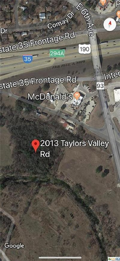 Belton Commercial For Sale: 2013 Taylors Valley Road