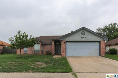 Killeen TX Single Family Home For Sale: $128,900