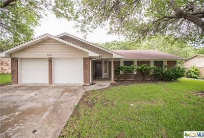 Killeen Single Family Home For Sale: 2303 Dover Road