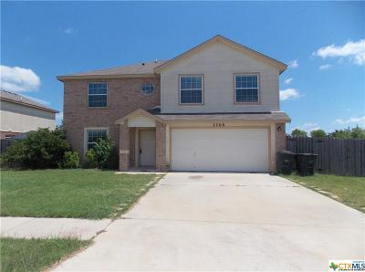 Killeen Single Family Home For Sale: 3709 Latigo Drive