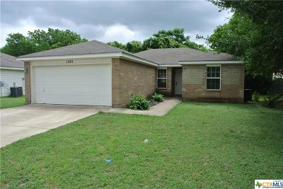 Temple, Belton Single Family Home For Sale: 1105 Muelhause Street