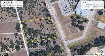Copperas Cove Residential Lots & Land For Sale: 1.76 Acres On Big Divide