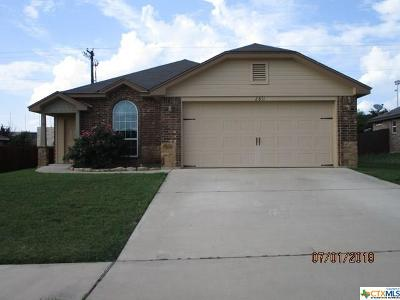 Killeen Single Family Home For Sale: 2811 Montague County Drive