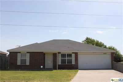 Killeen Single Family Home For Sale: 3007 Tom Lockett Drive