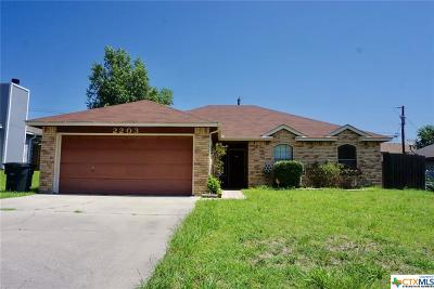 Killeen Single Family Home For Sale: 2203 Cactus Drive