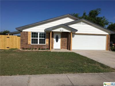 Killeen Single Family Home For Sale: 3113 Chisholm Trail