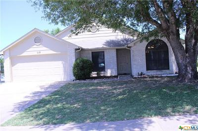 Copperas Cove TX Single Family Home For Sale: $118,000