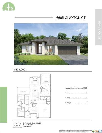 Temple, Belton Single Family Home For Sale: 6605 Clayton Court