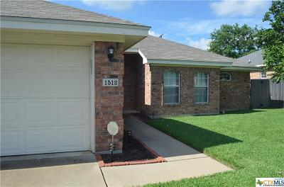 Harker Heights Single Family Home Pending: 1512 Zinfandel Drive