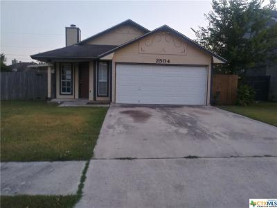 Killeen Single Family Home For Sale: 2504 Windmill Drive