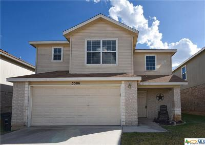 Killeen Single Family Home For Sale: 3306 Regency Court