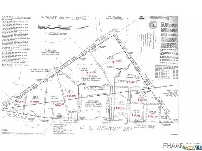 Lampasas Residential Lots & Land For Sale: 9.07 Acres Hwy 281