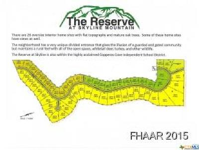 Copperas Cove Residential Lots & Land For Sale: 284 Skyline Drive