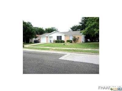 Copperas Cove TX Single Family Home For Sale: $64,900