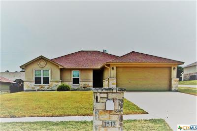 Copperas Cove Single Family Home For Sale: 1513 Indian Camp Trail