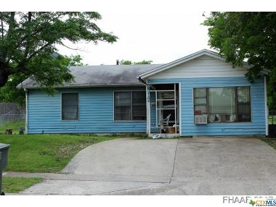 Killeen TX Single Family Home For Sale: $35,000
