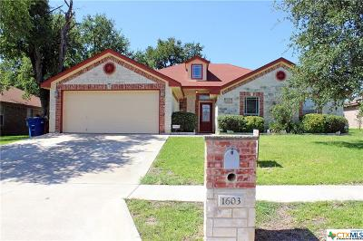 Copperas Cove Single Family Home For Sale: 1603 Walker Place Boulevard