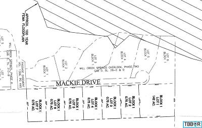 Salado Residential Lots & Land For Sale: Lot 5 Mackie Drive