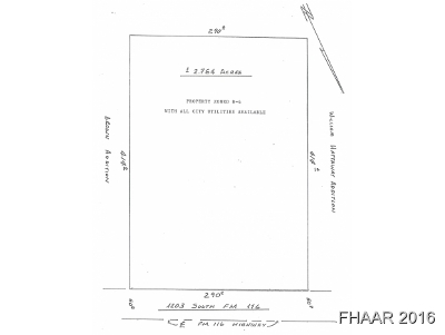 Copperas Cove Residential Lots & Land For Sale: 1203 S Fm 116