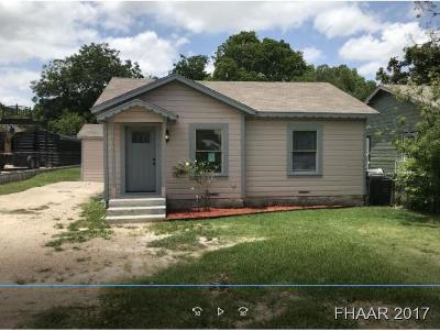 Temple Single Family Home For Sale: 804 Dunbar Road
