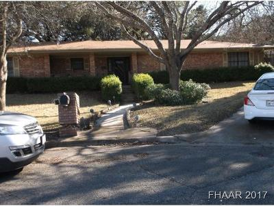 Harker Heights Single Family Home For Sale: 1400 Trail Crest Drive