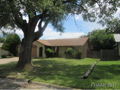 Harker Heights Single Family Home For Sale: 1229 Preswick Circle