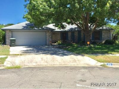 Killeen Single Family Home For Sale: 201 Owl Hollow