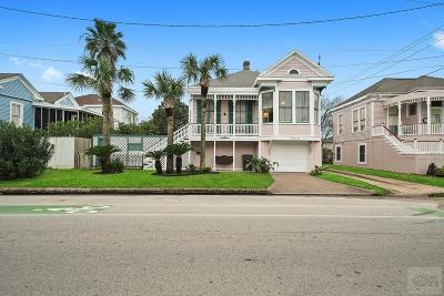 Galveston Single Family Home For Sale: 1613 19th