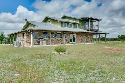 Blanco County Single Family Home For Sale: 1743 Althaus Ranch Rd