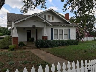 Llano Single Family Home Under Contract W/Contingencies: 1603 Ford St