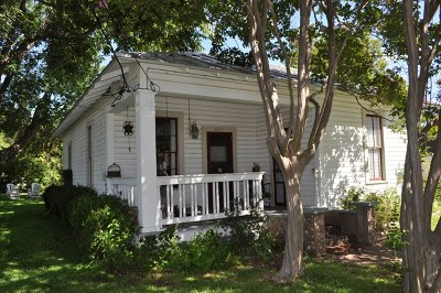 Fredericksburg Single Family Home Under Contract W/Contingencies: 420 S Milam St