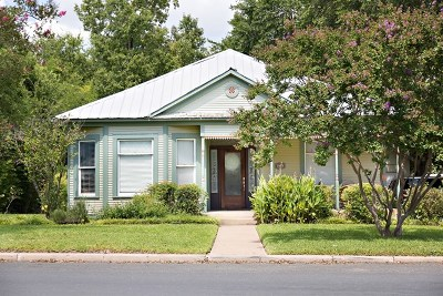 Fredericksburg Single Family Home Under Contract W/Contingencies: 406 E Travis St