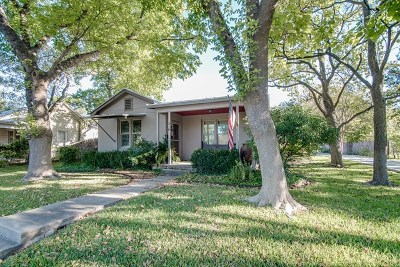 Fredericksburg Single Family Home Under Contract W/Contingencies: 318 Travis St
