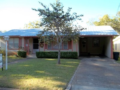 Fredericksburg Single Family Home Under Contract: 309 W College St