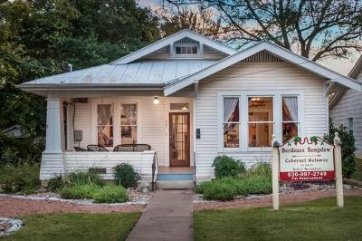 Fredericksburg Single Family Home For Sale: 307 E San Antonio St