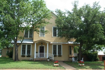 Llano County Single Family Home Under Contract W/Contingencies: 407 W Sandstone