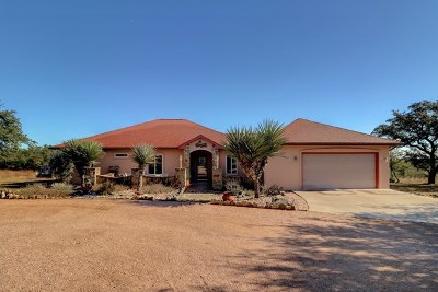 Blanco County Single Family Home Under Contract: 234 Palomino Trail