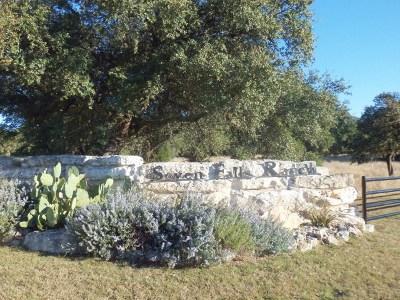 Fredericksburg Residential Lots & Land For Sale: Seven Falls Ranch Rd