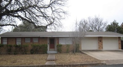 Gillespie County Single Family Home Under Contract W/Contingencies: 603 W Travis St