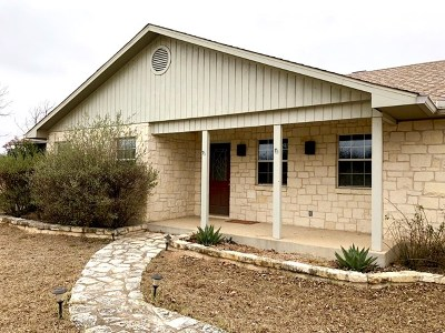Fredericksburg Single Family Home Under Contract W/Contingencies: 553 Emerald Loop