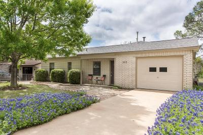 Gillespie County Single Family Home For Sale: 303 W Nimitz St