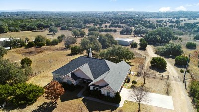 Blanco County Single Family Home Under Contract: 494 Appaloosa