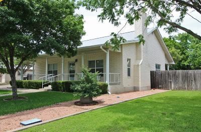 Fredericksburg Single Family Home Under Contract W/Contingencies: 614 W Hackberry