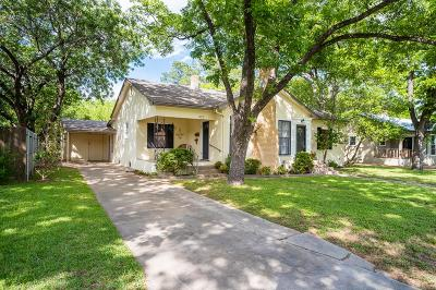 Fredericksburg Single Family Home Under Contract W/Contingencies: 322 W Morse St