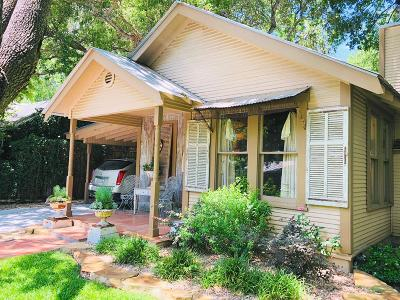 Fredericksburg Single Family Home Under Contract W/Contingencies: 306 SW Cottonwood