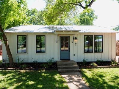 Fredericksburg Single Family Home For Sale: 109 E Centre St