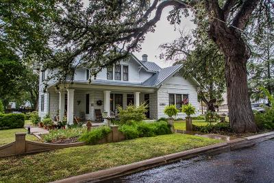 Fredericksburg Single Family Home For Sale: 615 W Creek St