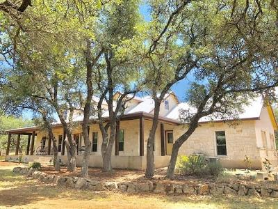 Blanco County Single Family Home For Sale: 947 Cielo Springs Dr