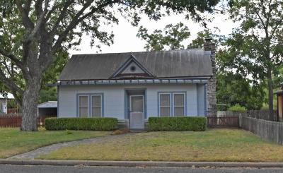 Fredericksburg Single Family Home For Sale: 105 E Morse St